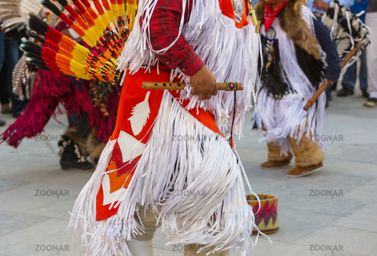 Indian dancer on street
