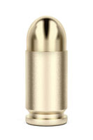 Front view of pistol bullet