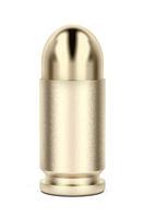Front view of pistol bullet