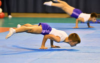 Orenburg, Russia, 26-27 May 2017 years: boys compete in sports acrobatics at the Open Championship O