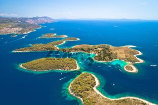 Pakleni otoci yachting destination arcipelago aerial view