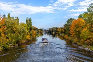 Brandenburg, Barnim, Wasserlandschaft, Oder Havel Kanal. Langer Trödel Kanal, Herbst