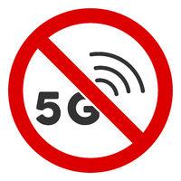 Flat Raster No 5G Signal Icon