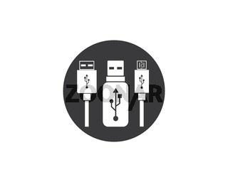 usb icon vector illustration