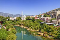Mostar old city and Neretva river, Bosnia and Herzegovina