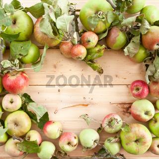 Verschiedene Bio Apfelsorten