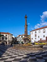 Blick auf einen Platz in Funchal auf der Insel Madeira, Portugal