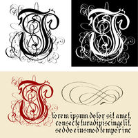 Decorative Gothic Letter J