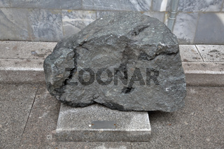 Large gray stone for landscaping and construction