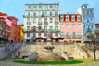 Lisbon old town, fountain, Portugal