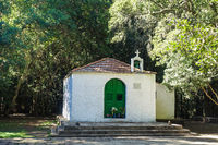 Small chapel in the middle of the laurel forest on the island La Gomera