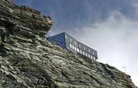 Mountain hut Cabane de Tracuit, Zinal, Val d'Anniviers, Valais, Switzerland
