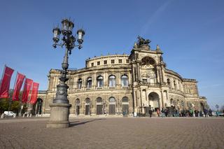 Semperoper,  Dresden, Sachsen, Deutschland, Europa