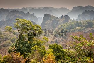 Limestone Peaks Lookout, Konglor Loop, Thakhek, Laos