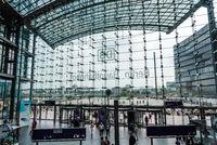 Central train station in Berlin. Berlin - Hauptbahnhof