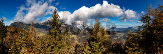 Blick von der Kneifelspitze auf den Untersberg im Berchtesgadener Land