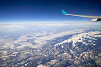 flight over Asia Alps