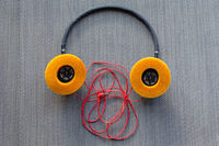 Used Orange Headphones