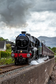 The Jacobite Steaming through Corpach