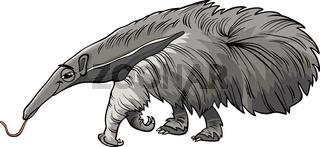 anteater animal cartoon illustration