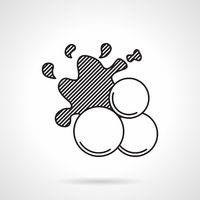 Paintball balls black line vector icon