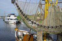 Fishing boat at the harbor of Greetsiel