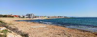 Torre La Mata sandy beach and Mediterranean Sea. Torrevieja. Province of Alicante, Costa Blanca, Spain