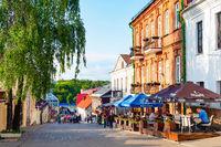 Torists, cafes, historical, Mins, Belarus