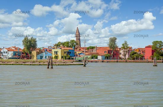Burano Island in Lagoon of Venice,adriatic Sea,Veneto,Italy