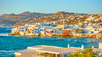Mykonos Island at sundown