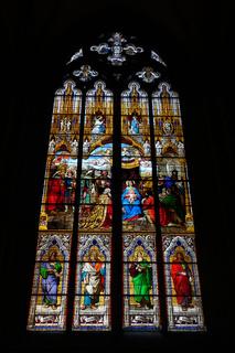 Anbetungsfenster - farbenprächtiges Buntglasfenster auf der Südseite im Kölner Dom