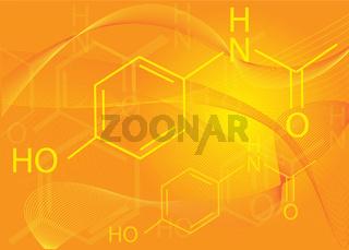 Paracetamol structure background