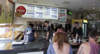 food bar Mama Boreka in Tel Aviv