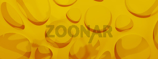 Abstract modern vertical yellow background, 3d rendering