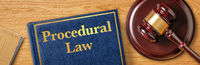 A gavel with a law book - Procedural Law