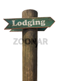 Rustic Wooden Lodging Sign