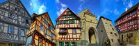 Collage of Eppingen with half-timbered house