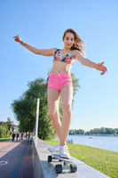 girl on skateboard