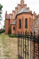 Brick church in Nienwalde in the Wendland, Lower Saxony