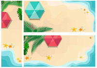Set of Summer Time Backgrounds or Banners