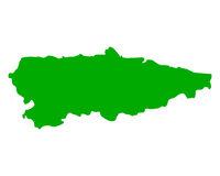 Karte von Asturien - Map of Asturias