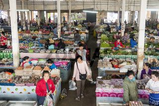 LAO HUAY XAY MARKET VEGETABLE