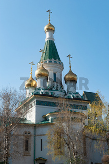 The Russian Church of St Nicholas the Miracle-Maker, Sofia, Bulgaria, Europe,