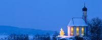 romantic christmas chapel in Bavaria