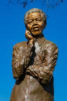 Nelson Mandela statue in Soweto