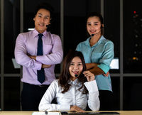 Call center team Portrait