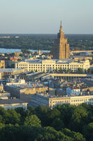 Historical part of Riga Latvia and Academy of Sciences.