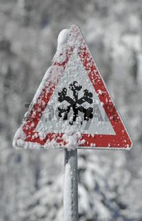 Warnung vor Eis und Schnee