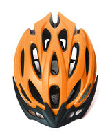 Bicycle helmet isolated on white background with shadow
