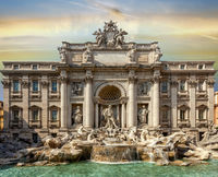 World famous fountain in Rome